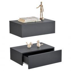 Set 2 x comoda suspendata cu 2 sertare Model 5, MDF, 46 x 30 x 15 cm