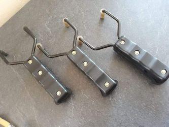 Set 3 manere rezistente pentru Prastii , manere metal culoare neagră