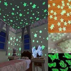 Set 30 de Stele camera copilului , stele fosflorescente pe tavan