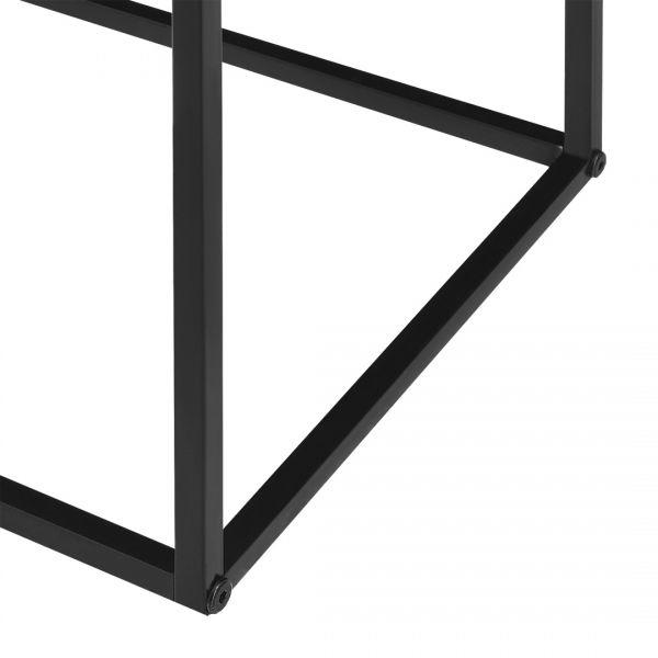 Set 4 bucati masuta cafea Quadro, 45 x 45 x 45 cm, metal, negru/gri-6