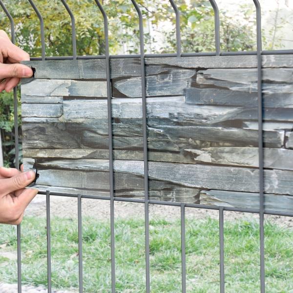 Set 4 bucati role folie gard protectie vizuala, 4 x 35 m/ 7 m², PVC-1