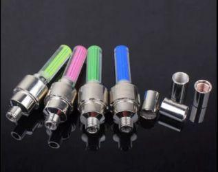 Set 4 LED-uri lumini capace ventil roti Albastre