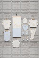 Set albastru cadou nou-nascut 10 piese Ursuleti