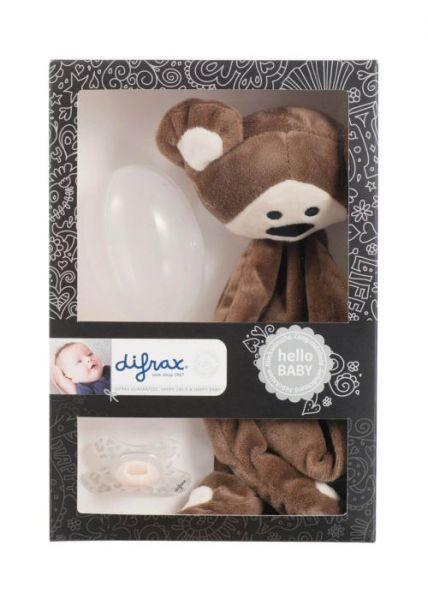 Set cadou bebelusi: jucarie plus+suzeta+cutie protectie-1
