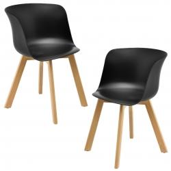Set design 2 scaune - 75 x 55,5cm - negru
