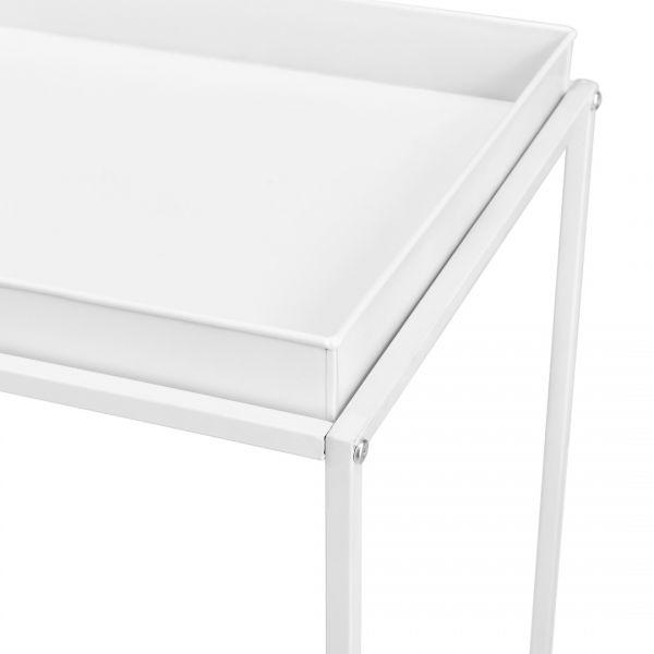 Set doua bucati masa tava Simple,metal, alb-3