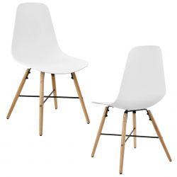 Set Eindhoven 2 scaune design - 85,5 x 46 cm, forma sezut scoica - alb