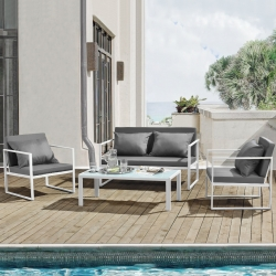 Set mobilier gradina, masa, 2 scaune, canapea
