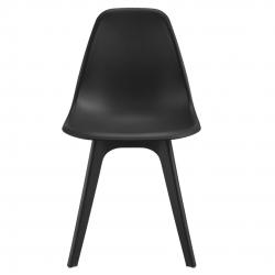Set sase bucati scaune design Axa, 83 x 54 x 48 cm, plastic, negru