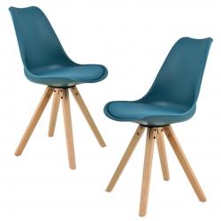 Set scaune design- 2 bucati - turcoaz