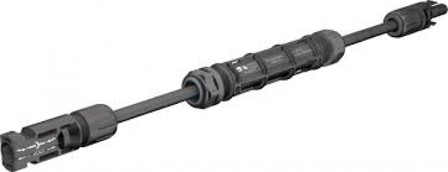 Siguranta 20A pe cablu cu mufe MC4 pentru panouri fotovoltaice 55 cm