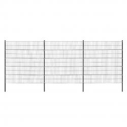 Sistem de gard cu panouri dublu fir 6 x 2,50 m