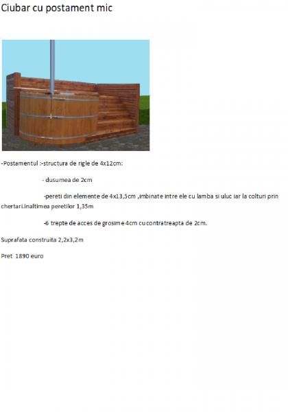 SPA din lemn,ciubar din lemn,,sauna din lemn,cabina de dus din lemn,ch-3