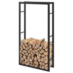 Stove AAFR-6612 Var 2 Suport lemne foc, 75 x 150 x 25 cm, otel, negru