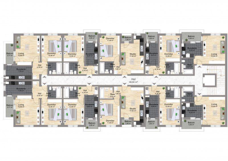 Studio Militari - Coloseum Residence finalizat-5