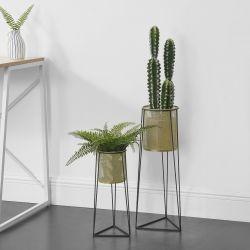 Suport plante Diana 2 bucati masuri diferite, metal, negru