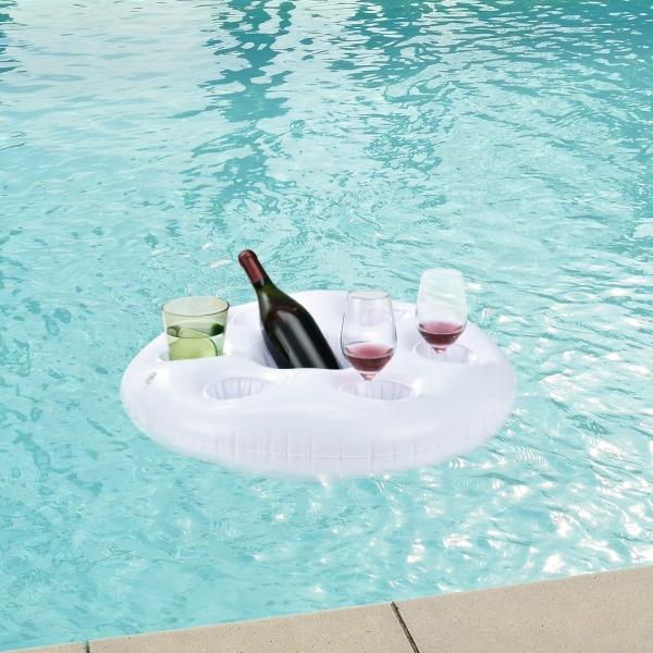 Suport practic pahare/sticle pentru petrecerile in piscina - la strand-1