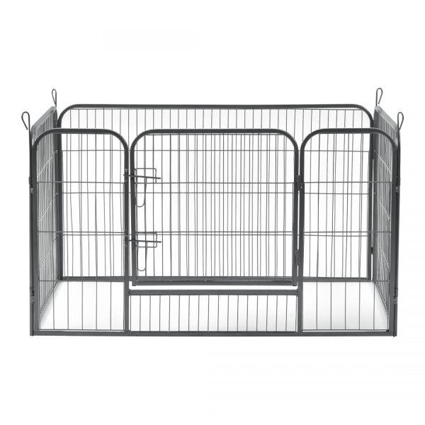 Tarc animale mici companie ABWI-5208, 125 x 85 x 70 cm, otel, argintiu-3