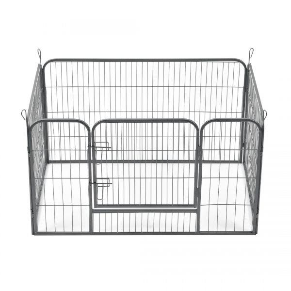 Tarc animale mici companie ABWI-5208, 125 x 85 x 70 cm, otel, argintiu-4