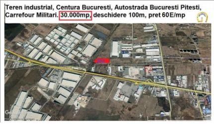 Teren 30.000 mp carrefour militari intravilan/industrial