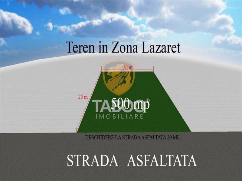 Teren 500 mp la strada asfaltata in Sibiu zona Lazaret-1