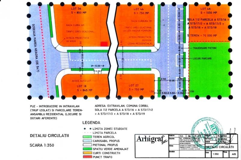 Teren Intravilan Corbu, Loturi 585mp – 1250mp -4