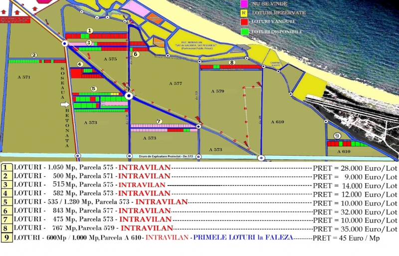 Terenuri Plaja Corbu, Oferte Actualizate 2020 in Plan Parcelar-1
