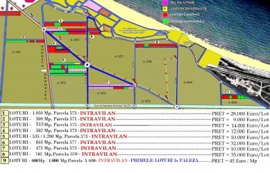 Terenuri Plaja Corbu, Oferte Actualizate 2020 in Plan Parcelar