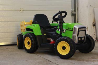Tractor electric pentru copii BJ611 70W 12V cu Remorca inclusa