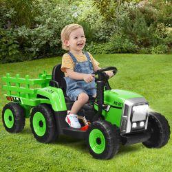 Tractor electric pt. copii Kinderauto BJ-611 70W 12V cu Remorca si RC