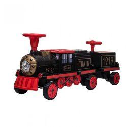Trenulet electric cu vagon SX1919B 180W 4x4 pentru 3 copii
