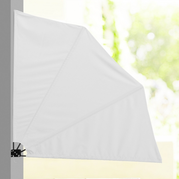 Umbrela de soare montabila pe perete - Paravan solar de perete alb-1