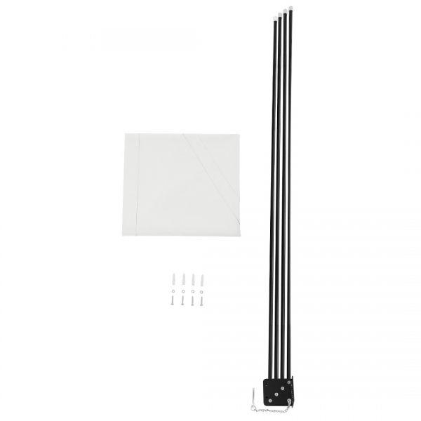Umbrela de soare montabila pe perete - Paravan solar de perete alb-3