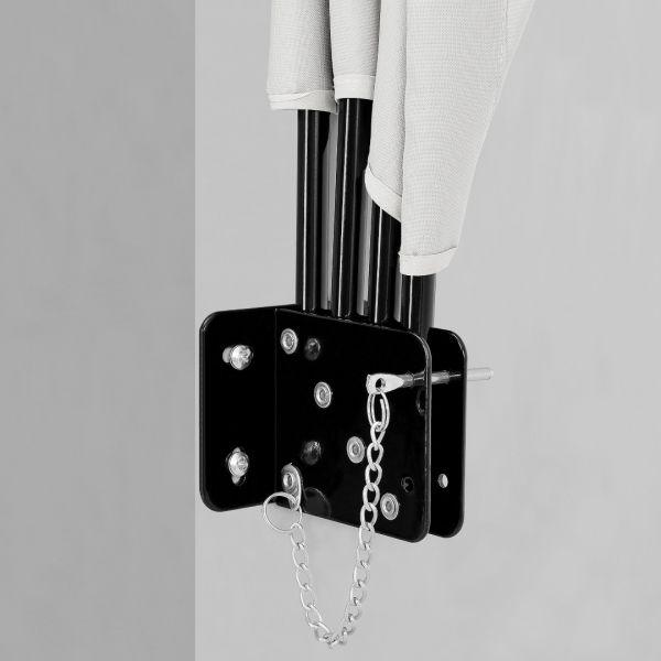 Umbrela de soare montabila pe perete - Paravan solar de perete alb-5