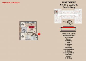 Vand apartament 2 camere zona Tractorul-Brasov
