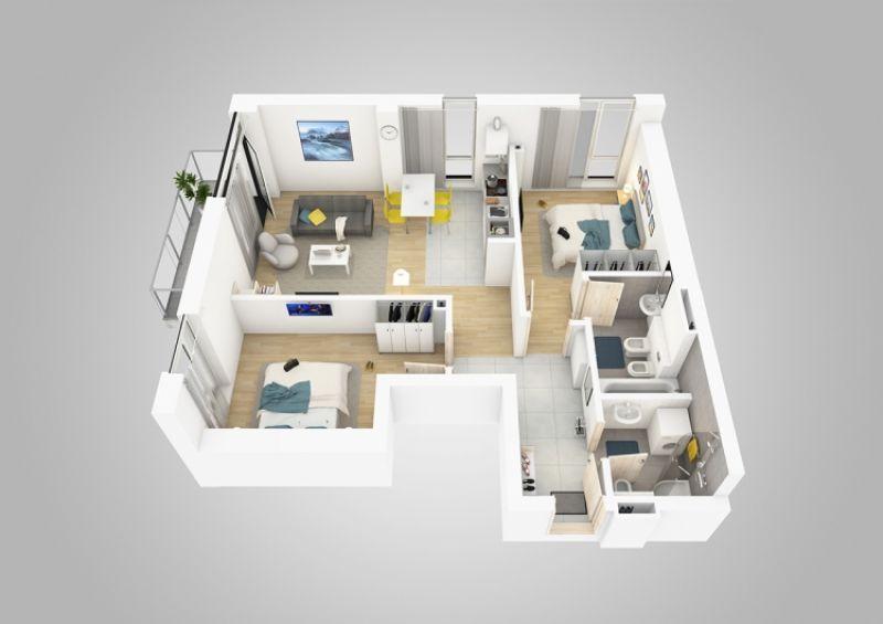 vand apartament nou,3 camere si garaj-1
