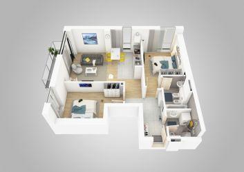 vand apartament nou,3 camere si garaj