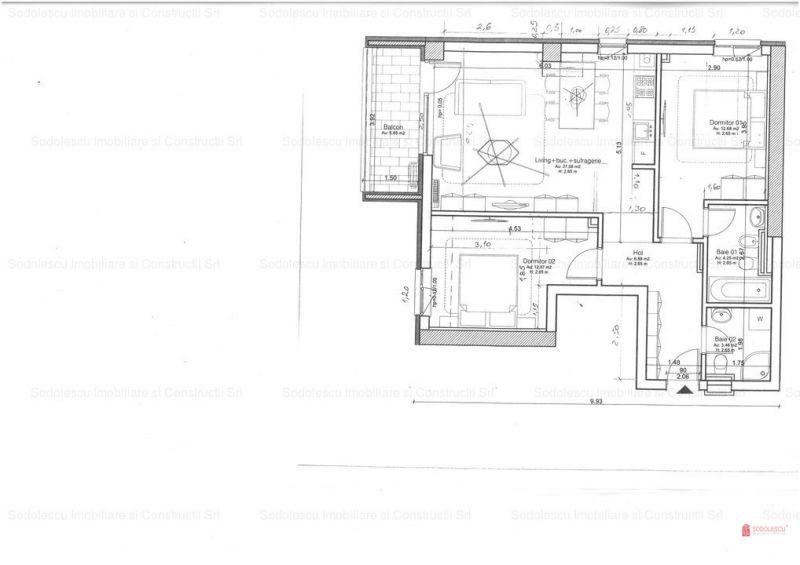vand apartament nou,3 camere si garaj-2