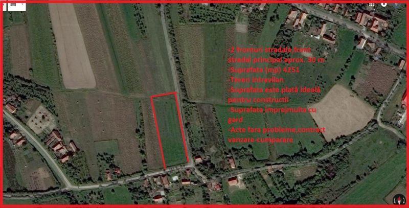 Vand urgent teren intravilan Sauaieu com.Nojorid 4251 m²-1