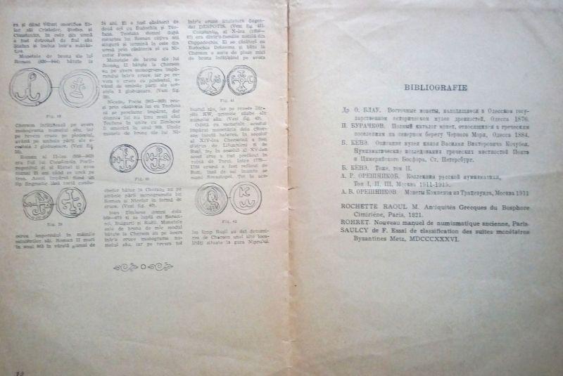Vechile monede grecesti si bizantine, C. Secasanu, 1947-8