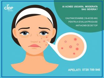 Venit suplimentar - testare produs anti-acneic