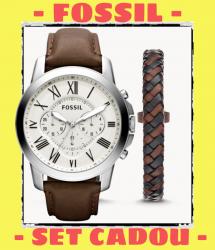 ✅ www⚫autenticshop⚫ro CEAS FOSSIL FS4735 Grant cronograf quartz barbat